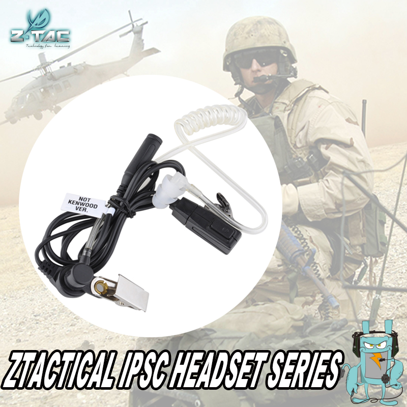 Element airsoft Z-TAC mic headset Acoustic Tube Earpiece In-Ear Style Z129