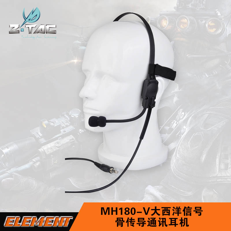 Z-Tactical Military zMH180 Signal headset with mic bone conduction headset hunting headphone Z 136