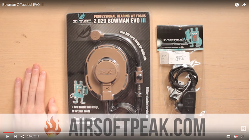 Z-TAC 029 headset Bowman Z-Tactical EVO III ElementAirsoft REVIEW